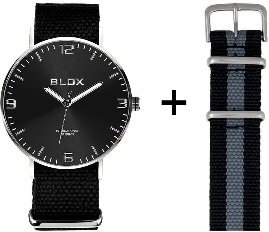 Blox Quarzuhr »BX15201« (Set, 2 tlg), mit einem Wechselband