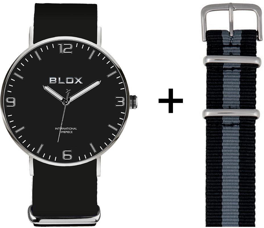 Blox Quarzuhr »BX15305« (Set, 2 tlg), mit einem Lederband