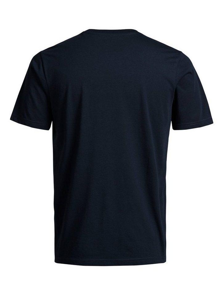 Jack & Jones Tech Bio-Baumwolle T-Shirt in Navy Blazer