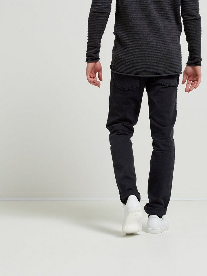 SELECTED Schwarze Slim Fit Jeans in Black