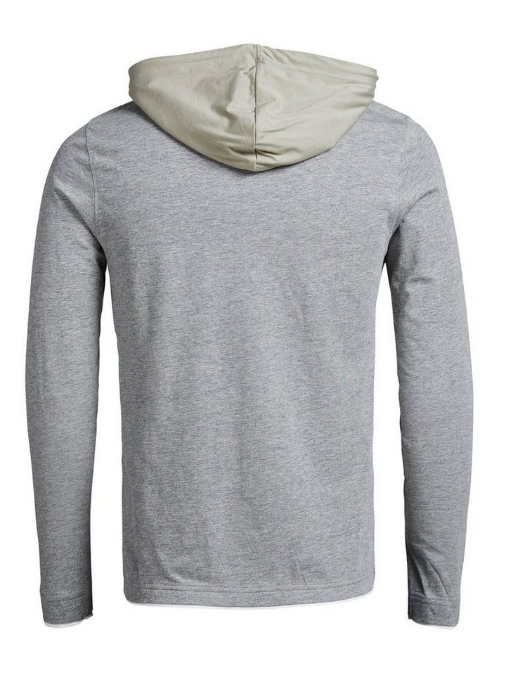 Jack & Jones Leichter Hoodie in LIGHT GREY MELANGE