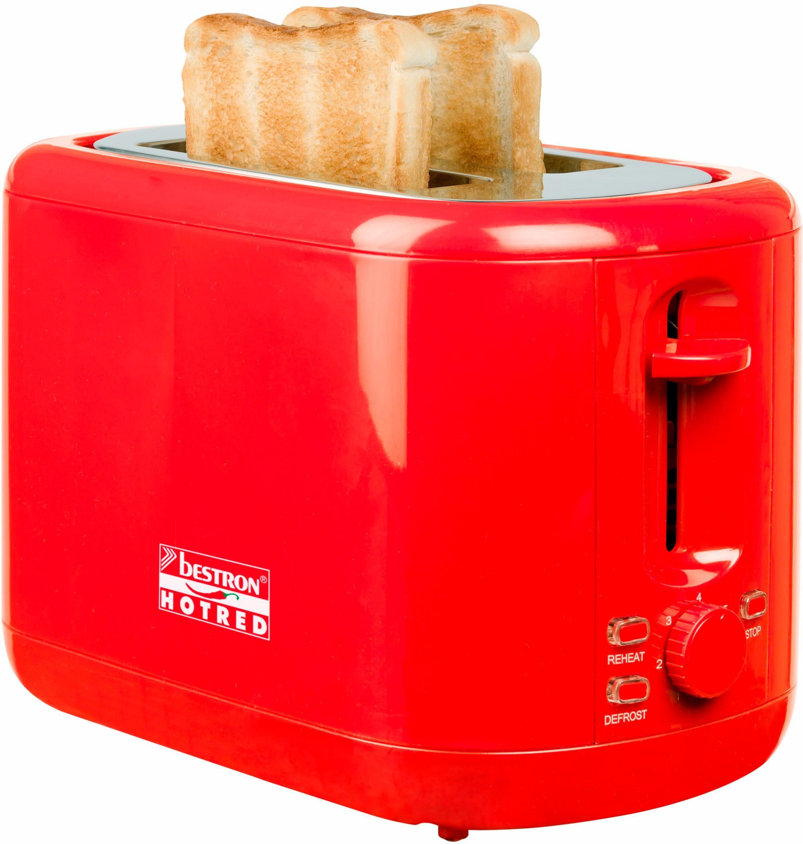 bestron Toaster ATS300HR, für 2 Scheiben, 930 W
