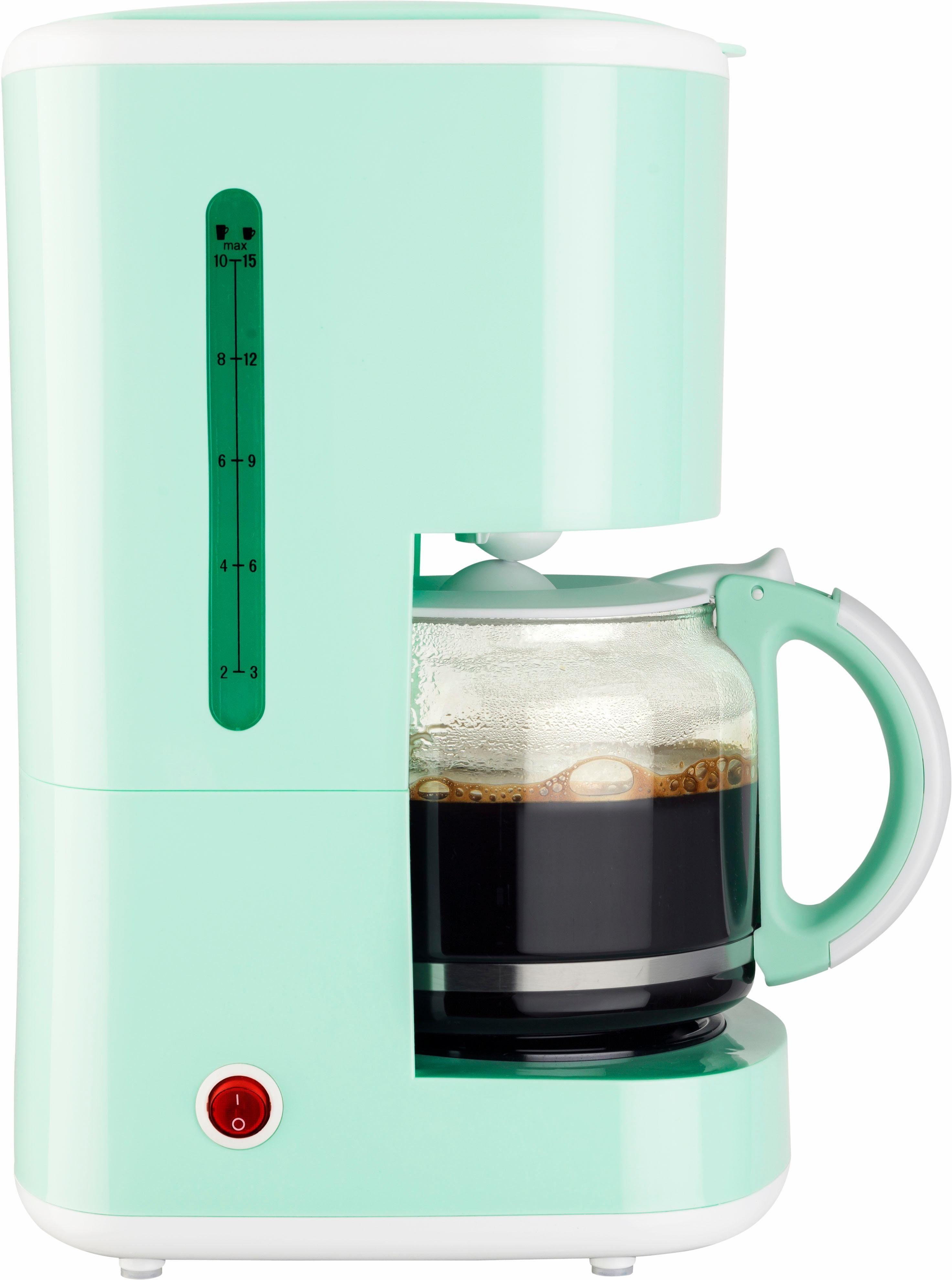 bestron Filterkaffeemaschine ACM300EVM, 1,5l Kaffeekanne, Permanentfilter 1x4