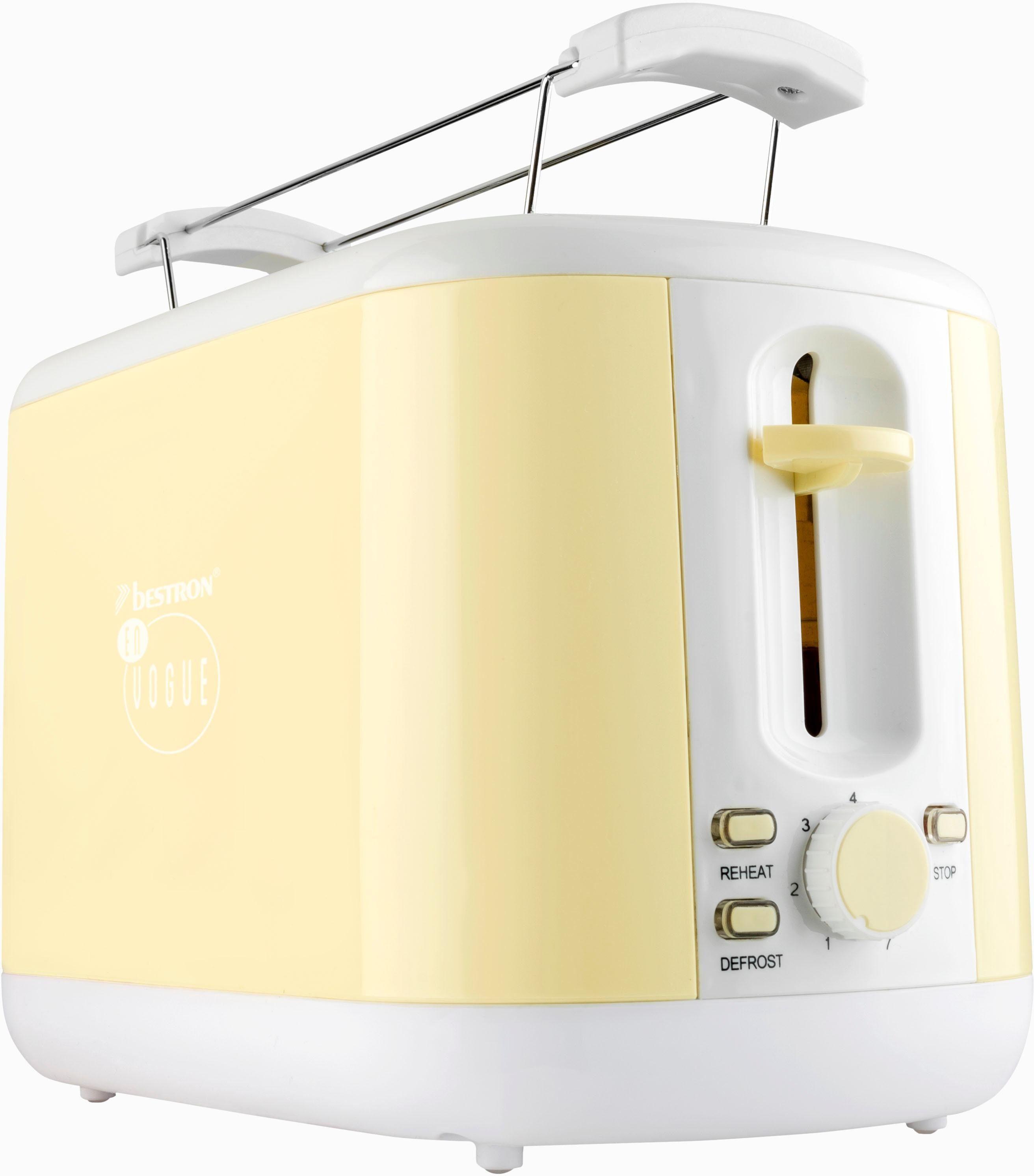 Bestron Toaster ATS300EVV, für 2 Scheiben, vanille