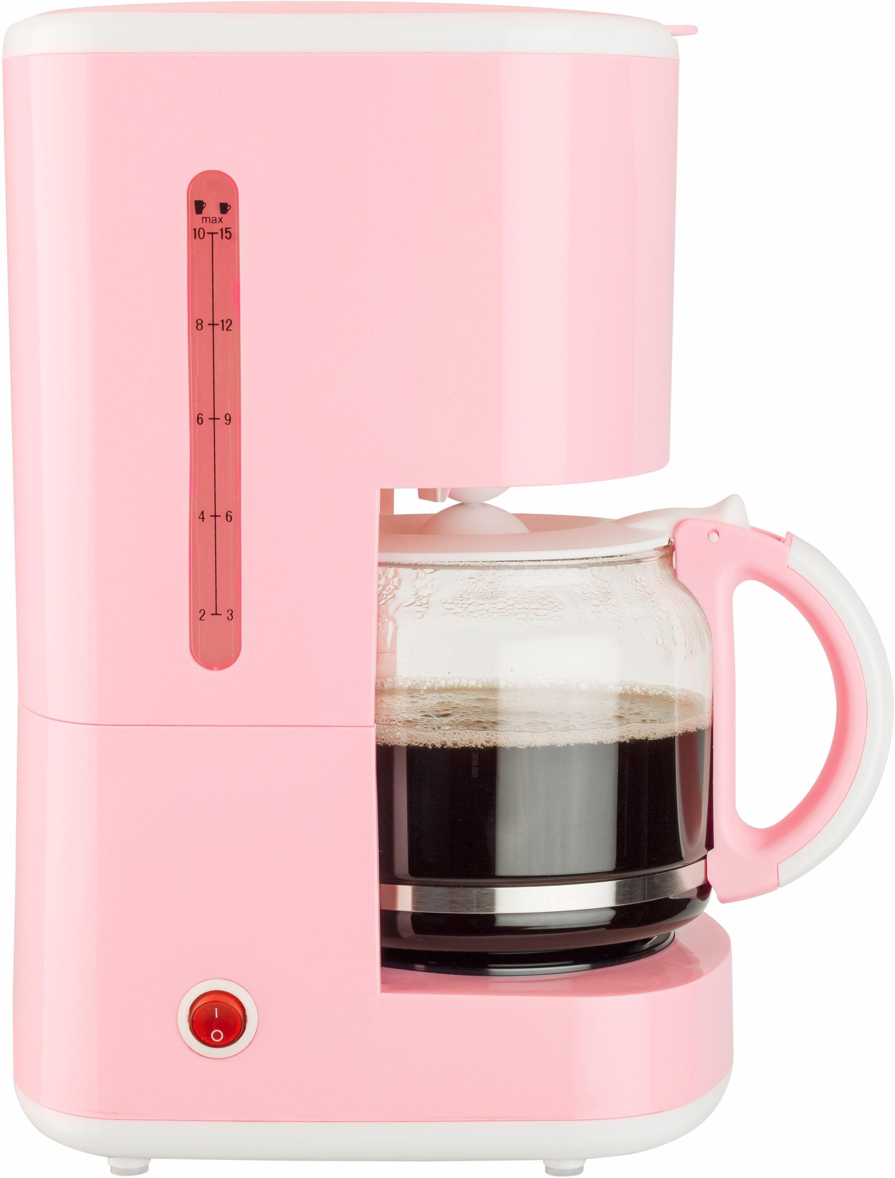 bestron Filterkaffeemaschine ACM300EVP, 1,5l Kaffeekanne, Permanentfilter 1x4
