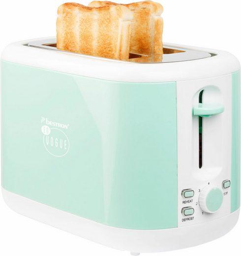 bestron Toaster ATS300EVM, für 2 Scheiben, 930 W
