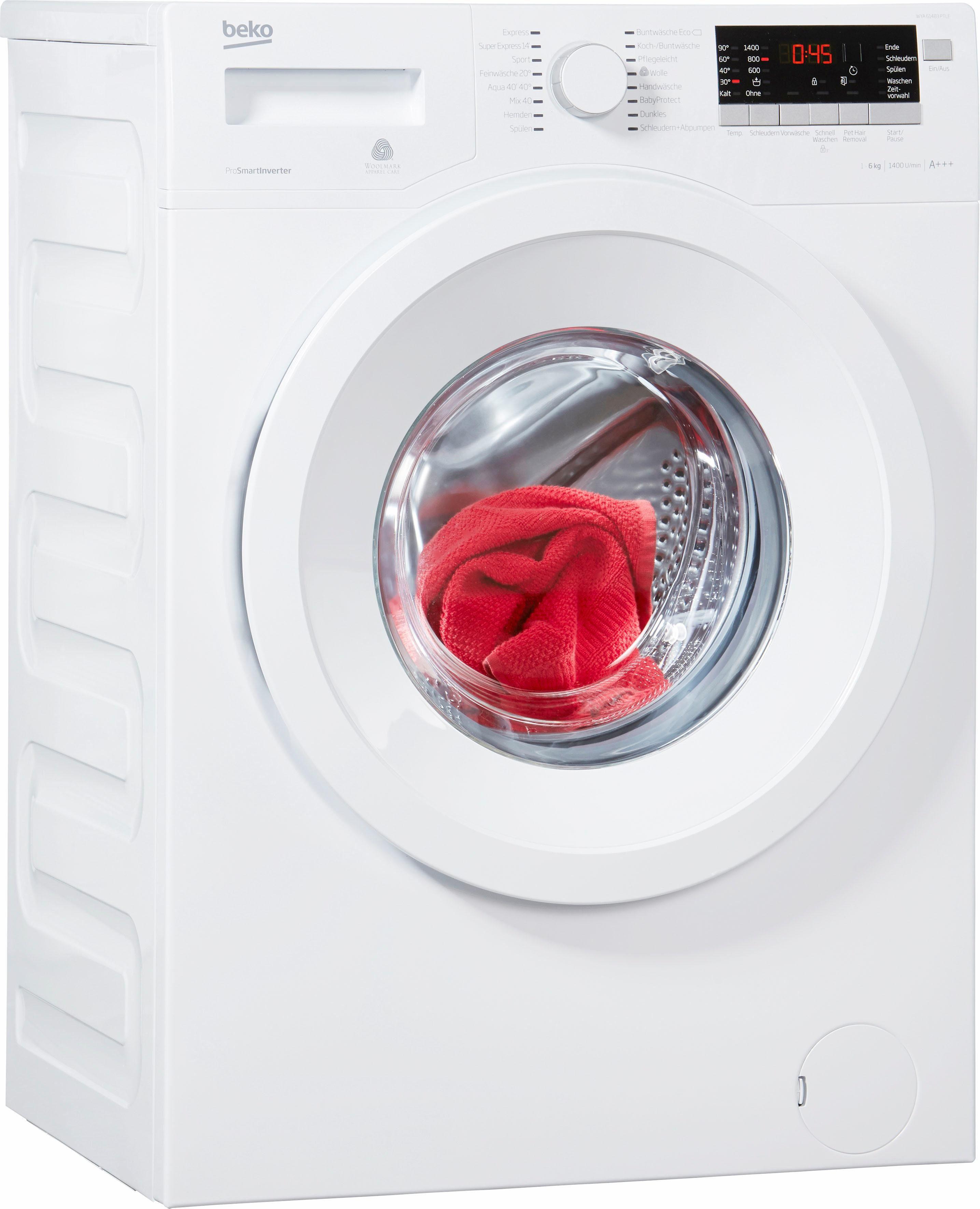 BEKO Waschmaschine WYA 61483 PTLE, A+++, 6 kg, 1400 U/Min