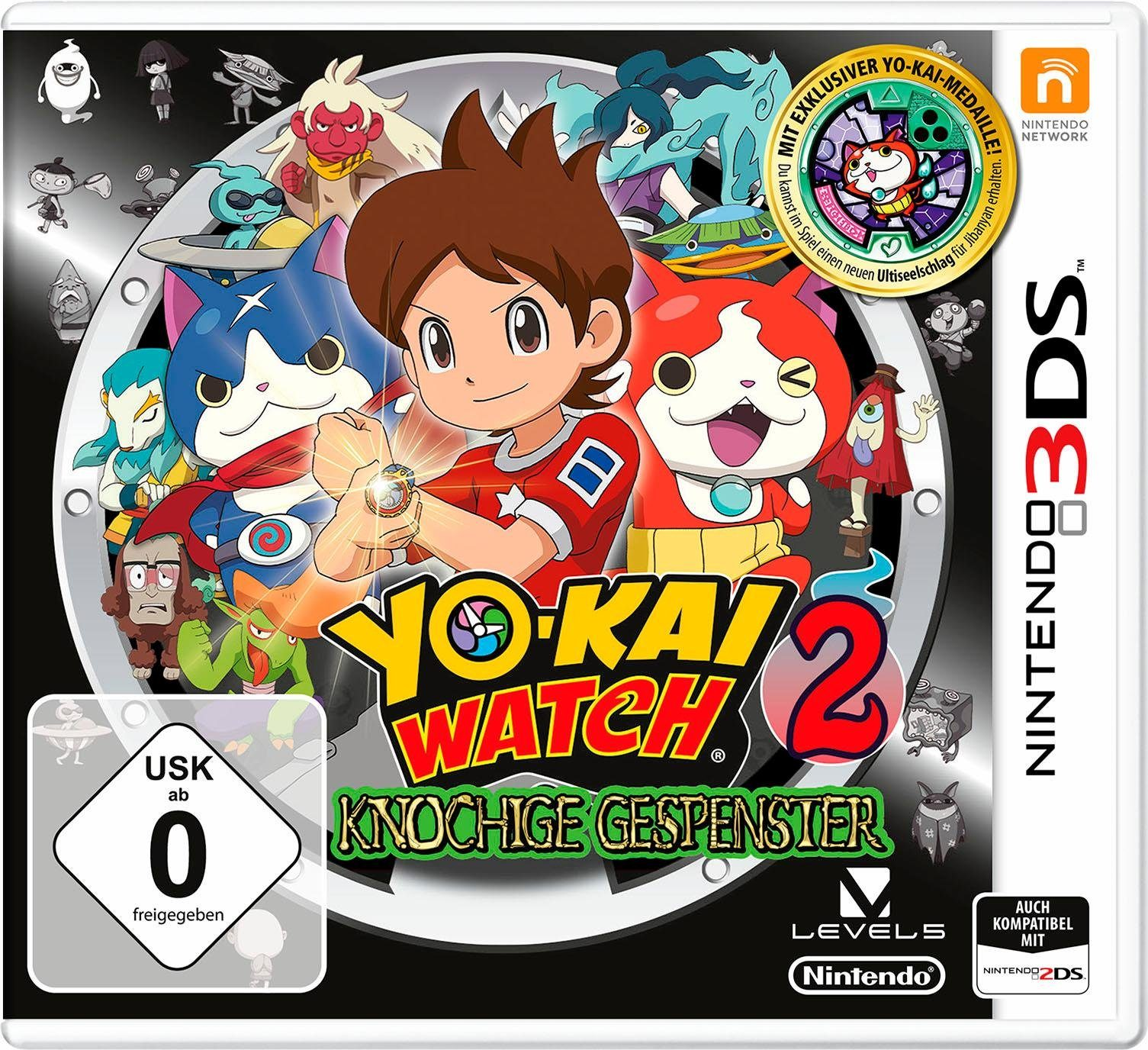 Yo-Kai Watch 2: Knochige Gespenster inklusive Medaille Nintendo 3DS