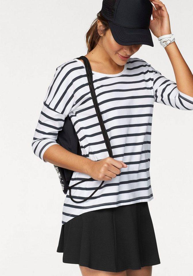 AJC Oversize-Shirt mit Streifen | Bekleidung > Shirts > Oversize-Shirts | Weiß | Baumwolle | AJC