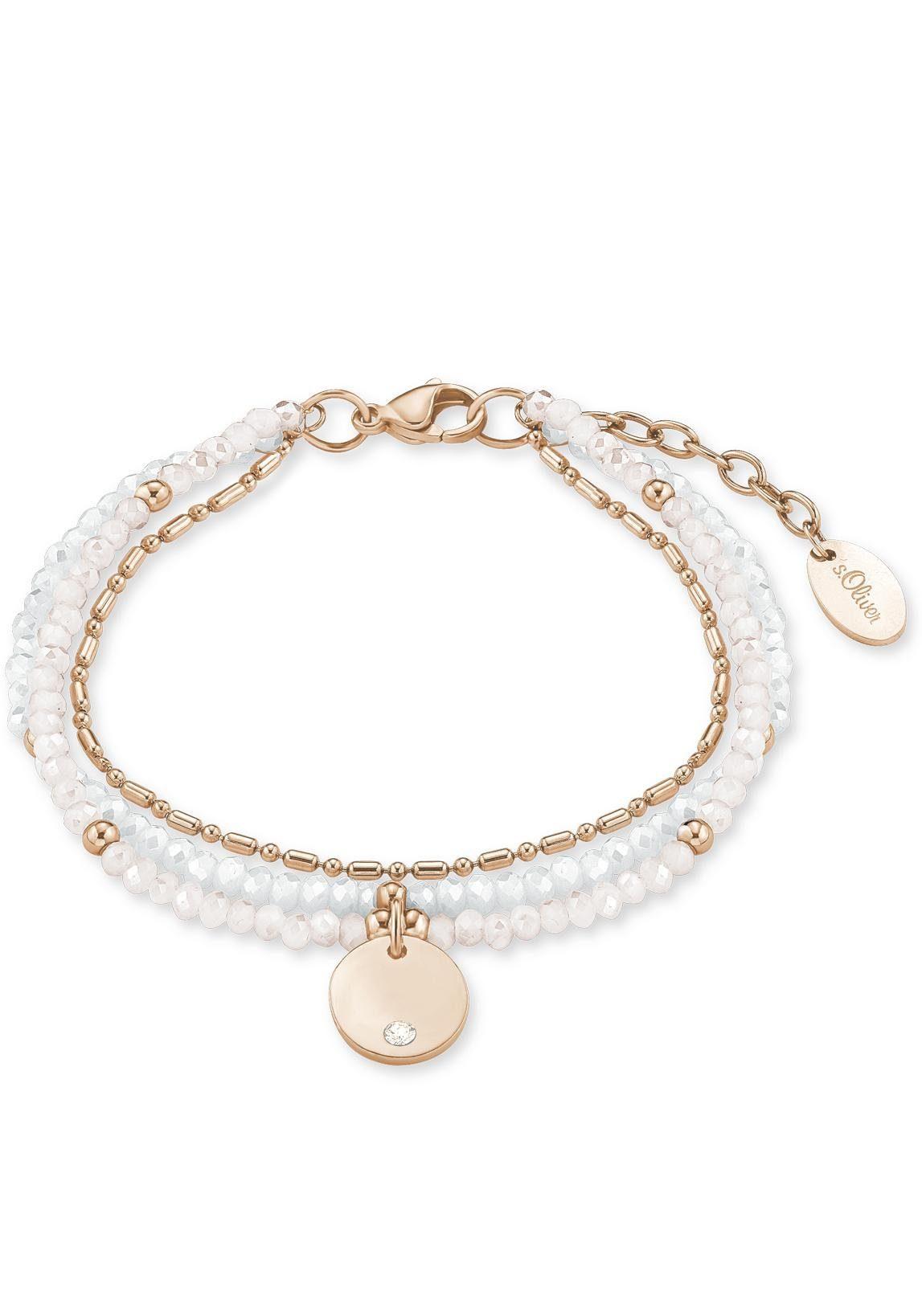 s.Oliver RED LABEL Armband »2015062«, Mit Glassteinen und Swarovski® Kristall