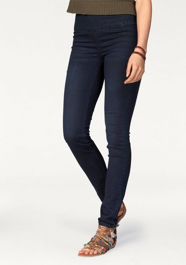 Ajc Slim-fit Jeans, High-waisted With Zip Back