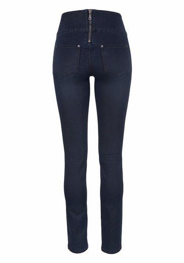 Ajc Slim Fit Jeans, Taille Haute Avec Fermeture À Glissière À Larrière
