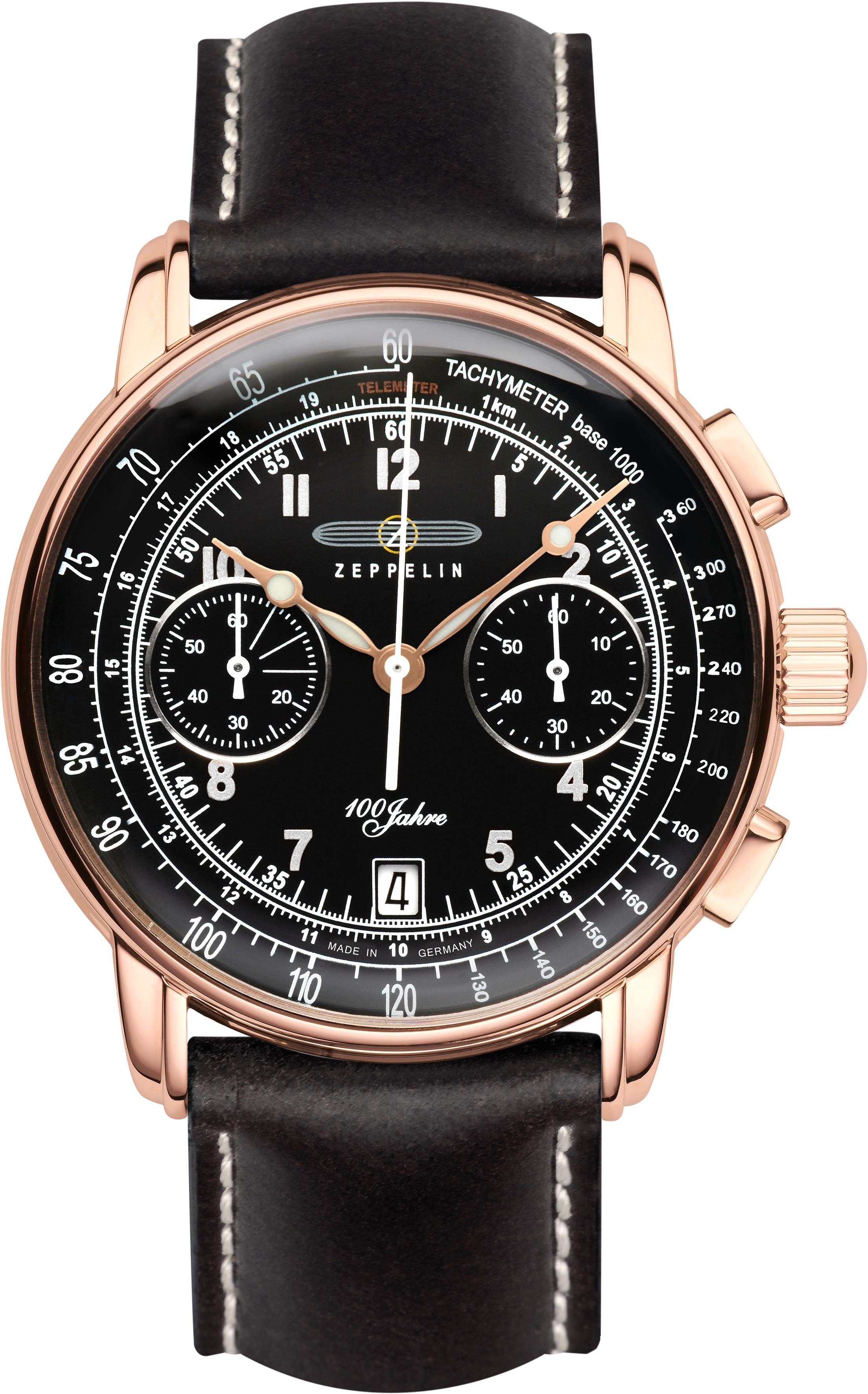 ZEPPELIN Chronograph »100 Jahre Zeppelin, 7676-2« Made in Germany