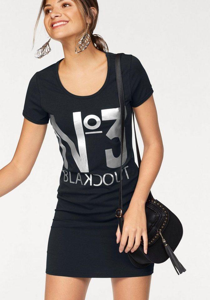 AJC Jerseykleid mit Statement Druck in silber in schwarz-silberfarben