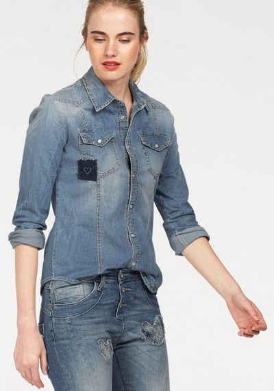 Please Jeans Jeansbluse, mit kleinem Patch-Element Sale Angebote Bagenz