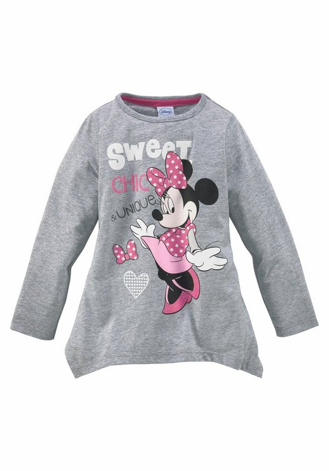disney zipfelshirt mit minnie mouse glitzerdruck otto. Black Bedroom Furniture Sets. Home Design Ideas