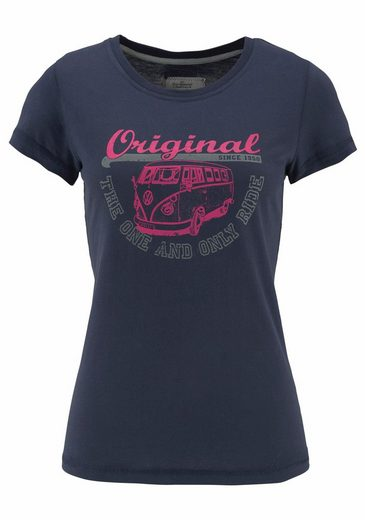 Van One CLASSIC CARS T-Shirt ORIGINAL RIDE, mit 2-farbigem Bulli Print