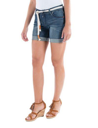 TIMEZONE Hosen kurz Regular Alexa shorts incl. belt