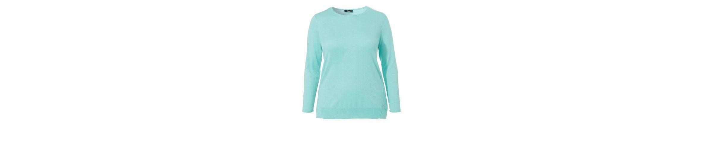 Neuesten Kollektionen Verkauf Online FRAPP Feinstrick-Pullover mit Rundhals-Ausschnitt Einkaufen 2018 Online Rabatt Viele Arten Von c5zXgqd