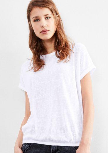 Q/S designed by Shirt mit Slub Yarn-Effekten