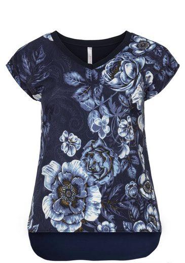sheego Style T-Shirt, Hinten etwas länger geschnitten