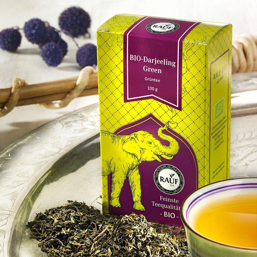 Rauf Tee Rauf Tee Grüner Tee Darjeeling Green Bio