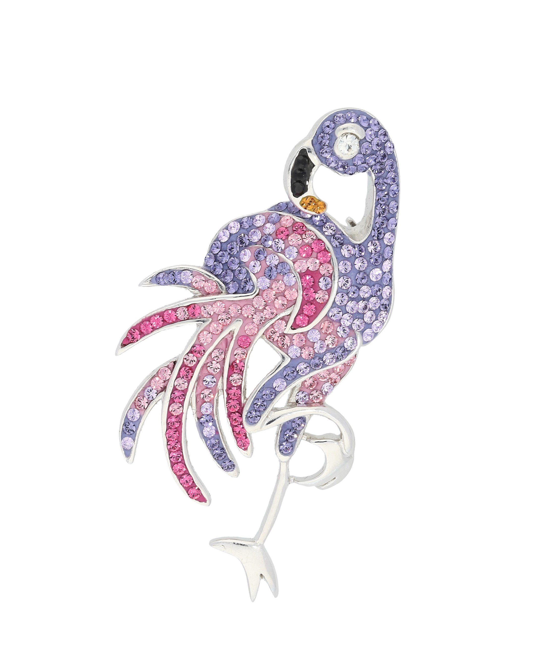 Firetti Brosche »Flamingo«, mit Swarovski-Elements