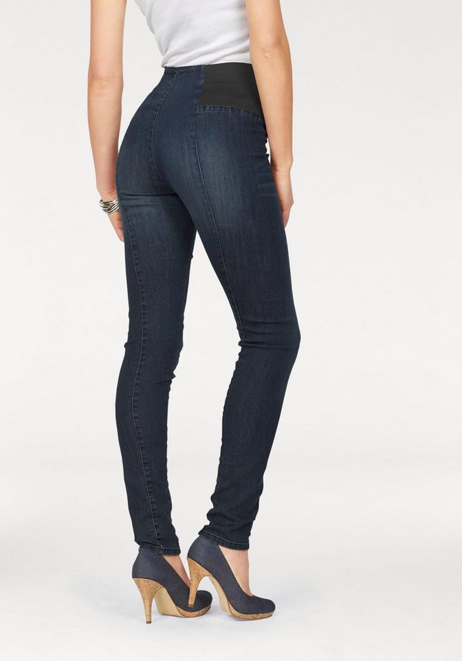 Arizona Skinny-fit-Jeans »Shaping« High Waist Comfort-Stretch in new-blue-used