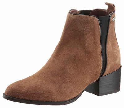 Damen Stiefeletten Schuhe Used Look Stretch Boots Dunkelgrau 37 AvoyPJ