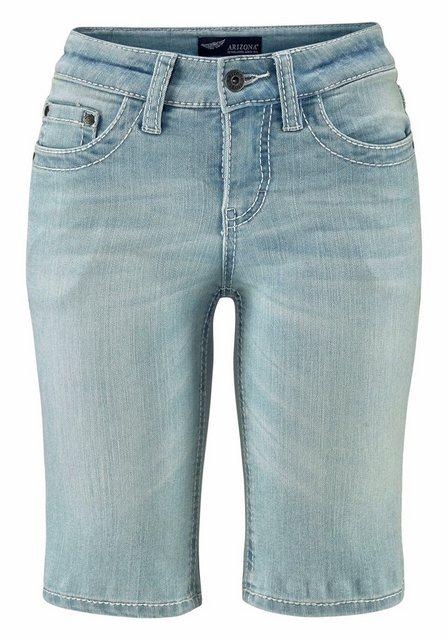 Hosen - Arizona Jeansbermudas »Kontrastnähte« Mid Waist › blau  - Onlineshop OTTO