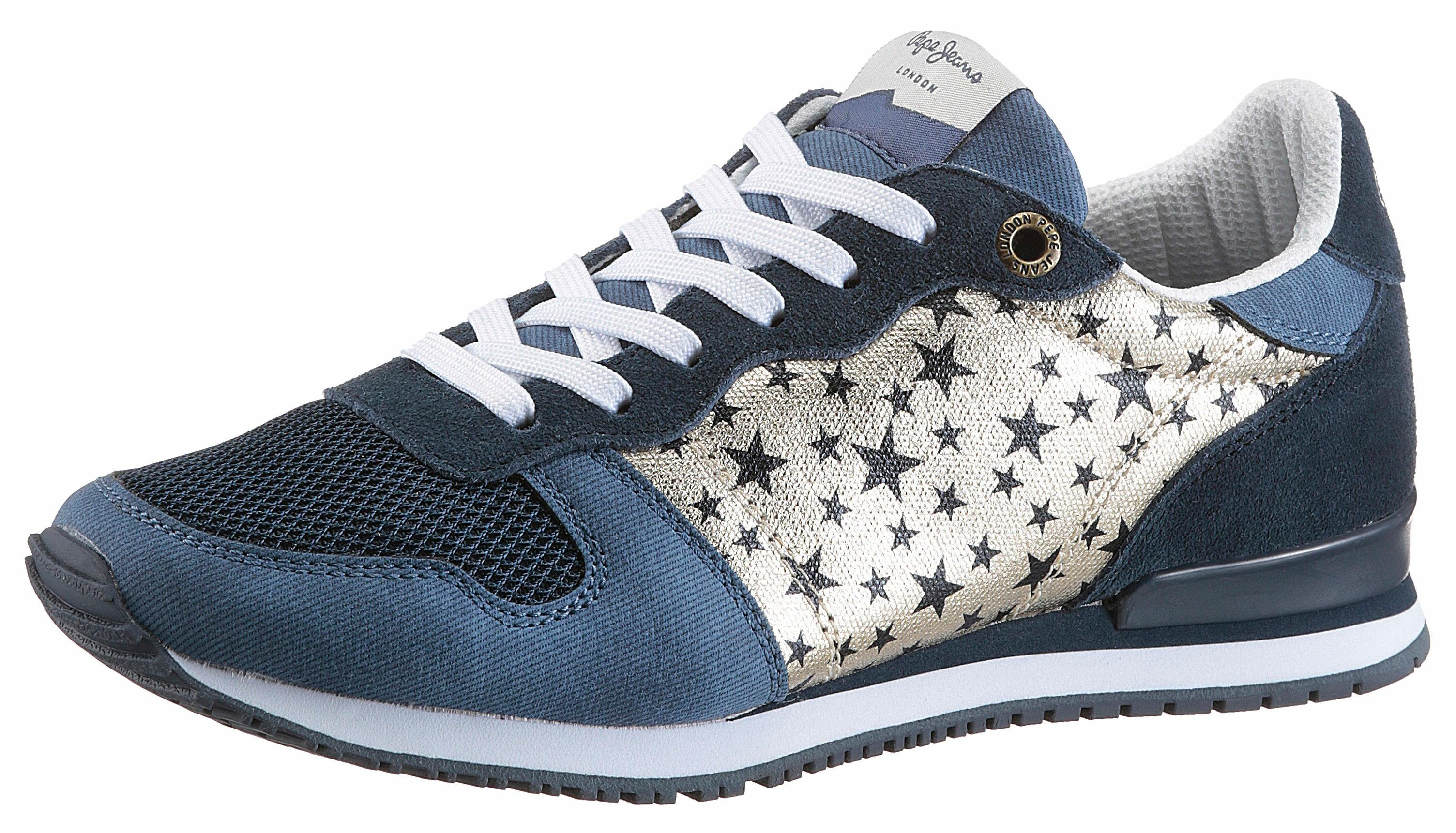 Pepe Jeans Gable Galatic Sneaker, mit Sternchen-Print online kaufen  navy-goldfarben