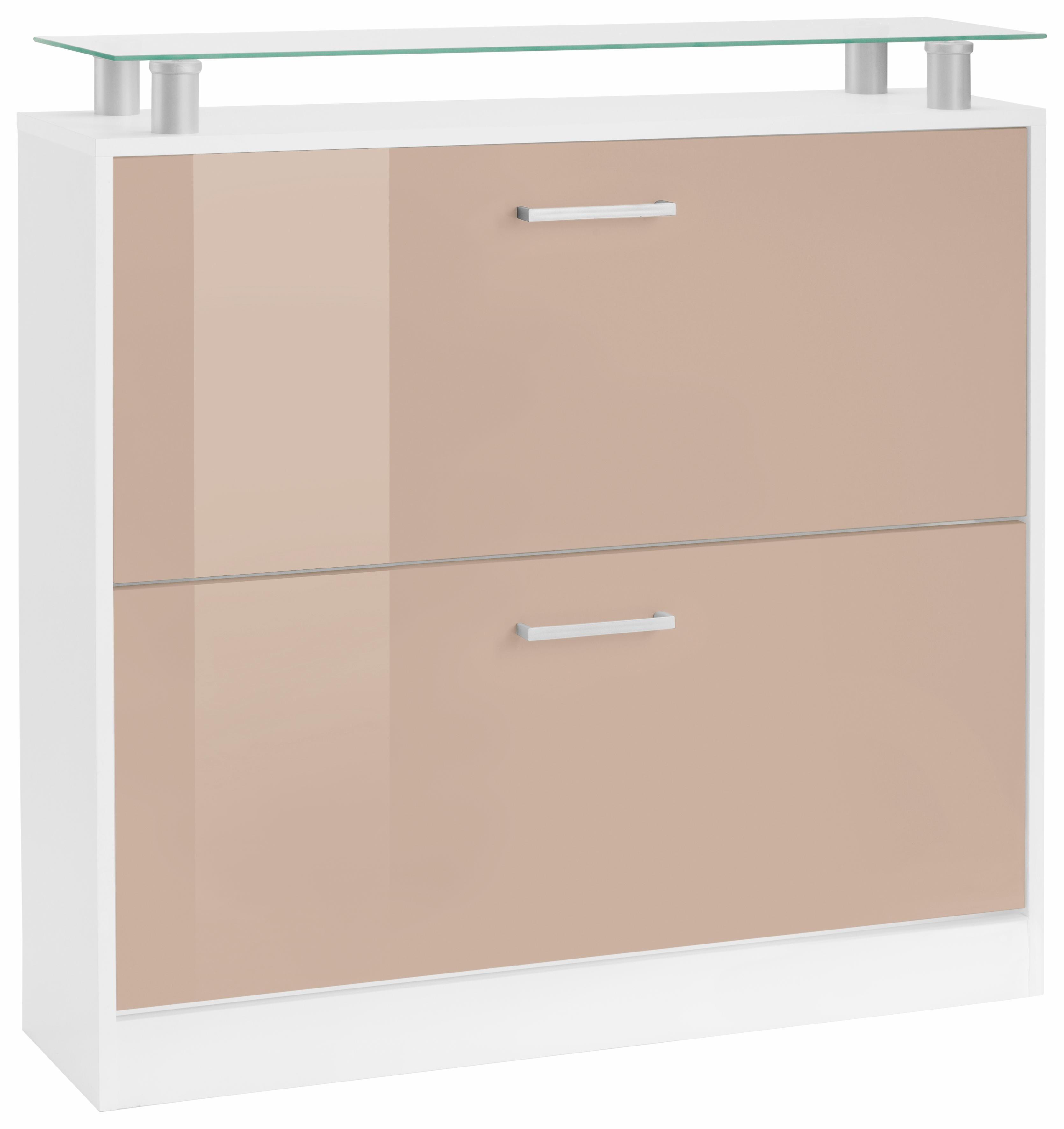 Borchardt Möbel Schuhschrank »Finn«, Breite 89 cm, mit Glasablage | Flur & Diele > Schuhschränke und Kommoden > Schuhschränke | Hochglanz - Weiß | Hochglanz - Melamin | borchardt Möbel