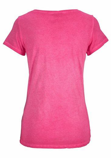Key Largo T-Shirt Head, mit großer Totenkopf-Applikation vorne