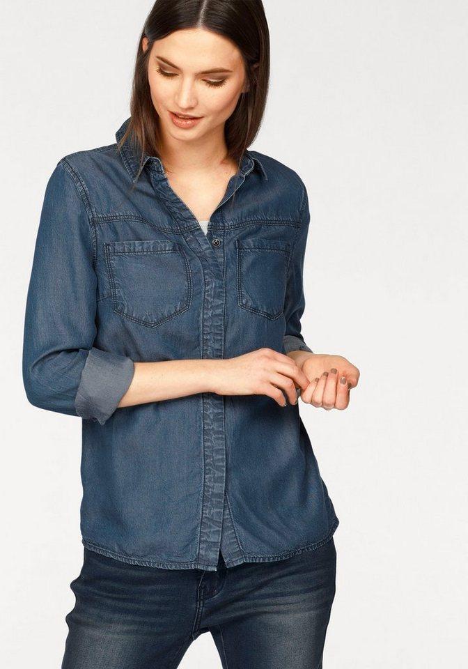 Laura Scott Jeansbluse aus Lyocell in jeans-blau