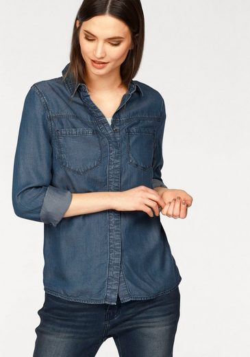 Laura Scott Jeansbluse, aus Lyocell