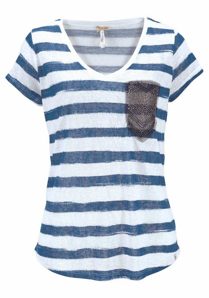 key largo t shirt josi mit fake brusttasche mit zier. Black Bedroom Furniture Sets. Home Design Ideas