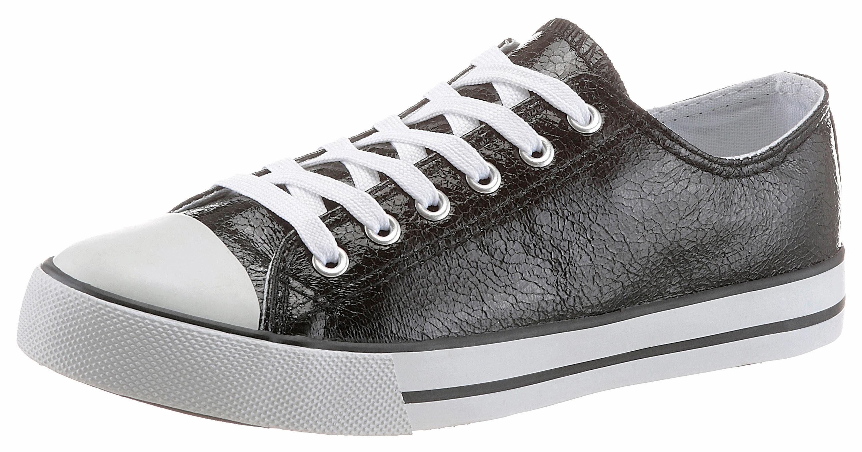 Arizona Sneaker, in glänzender Optik, schwarz, schwarz