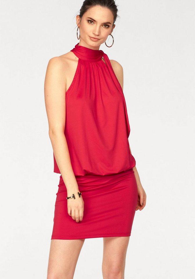 Kleid oben rot unten schwarz