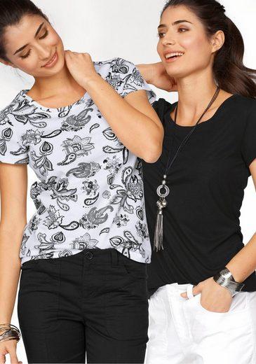 Boysen's T-Shirt (Packung, 2er-Pack), aus reiner Baumwolle