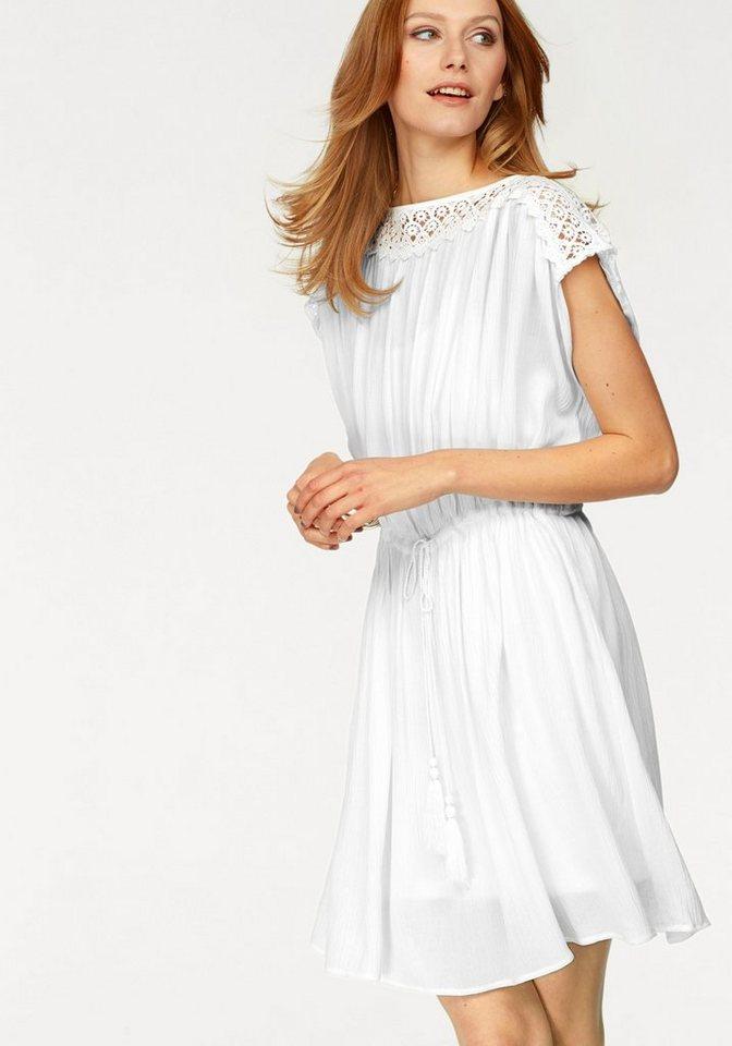 soyaconcept Sommerkleid »Makia« mit Spitzenbesatz an Ausschnitt und Schulter | Bekleidung > Kleider > Sommerkleider | Weiß | soyaconcept