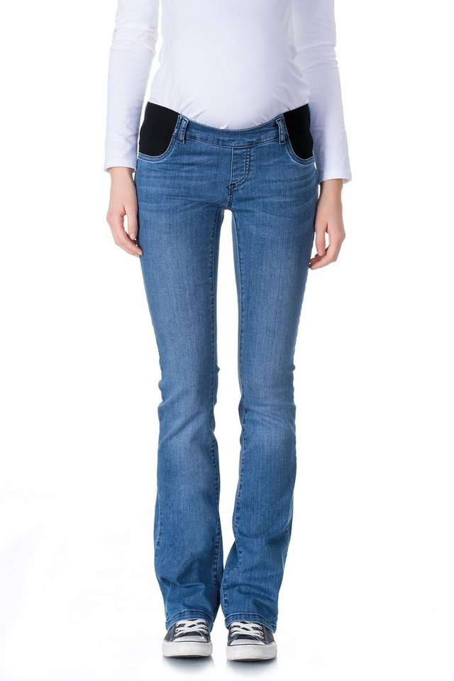 BELLYBUTTON Jeans Alia boot cut, low pocket belly 1 in blue denim