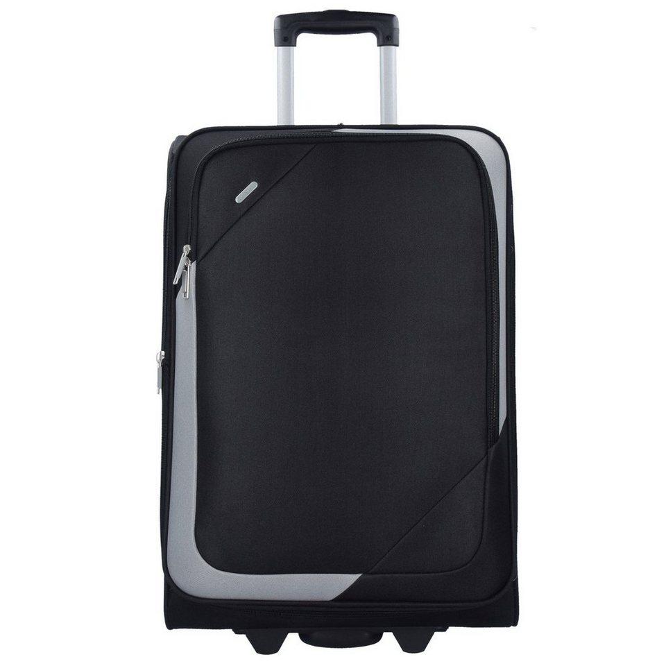 d & n Travel Line 7200 2-Rollen Trolley 62 cm in schwarz