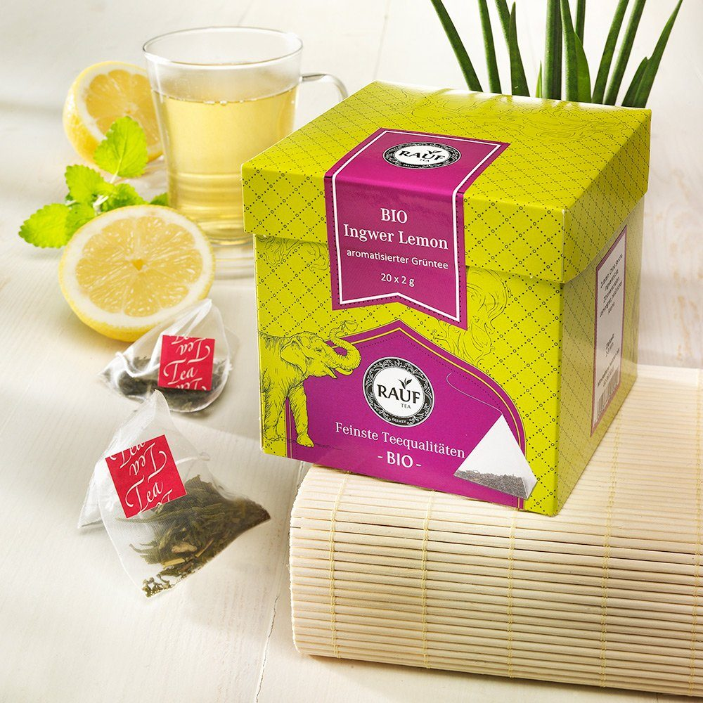 Rauf Tee Rauf Tee Grüner Tee Ingwer-Lemon Bio