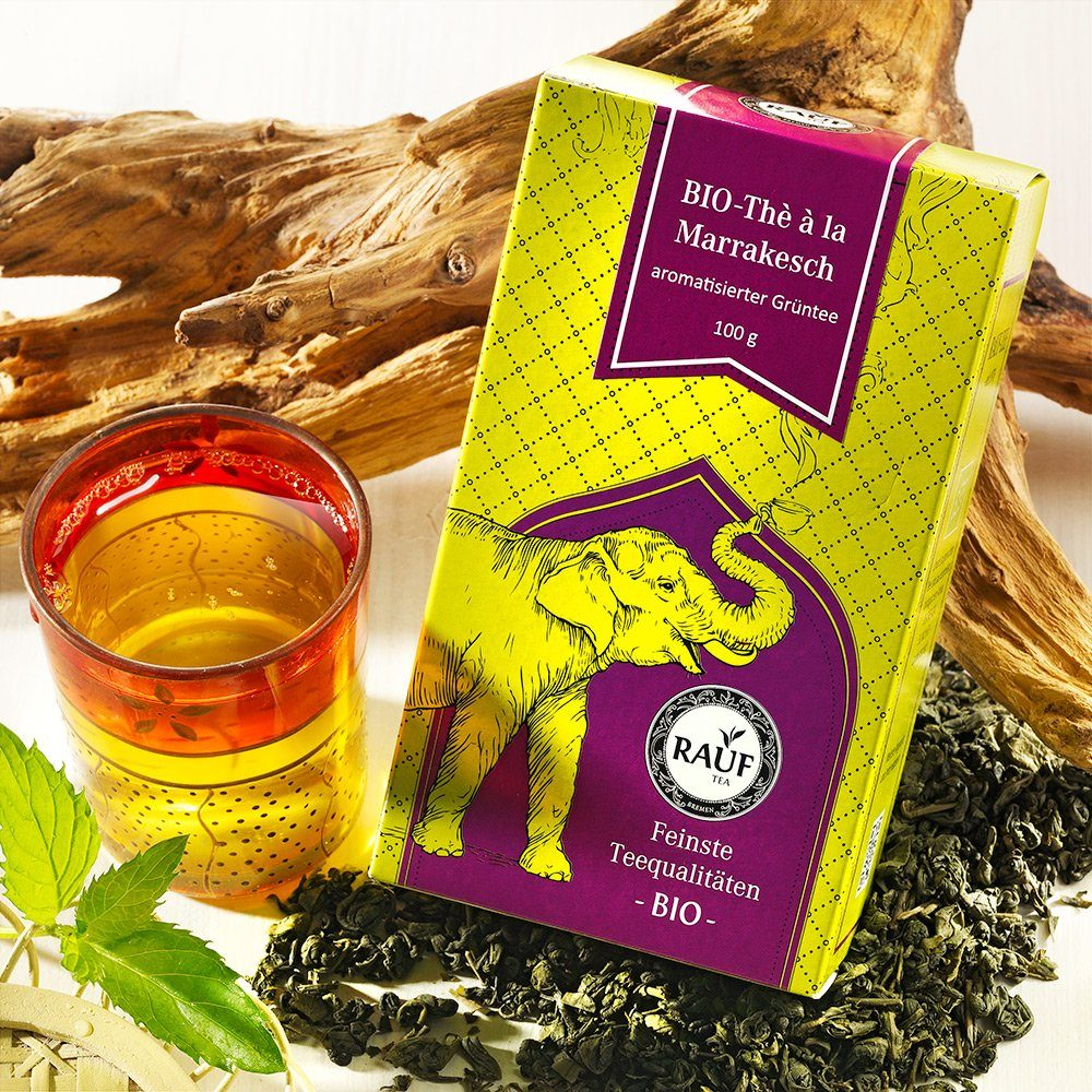 Rauf Tee Rauf Tee Grüner Tee The a la Marrakesch Bio