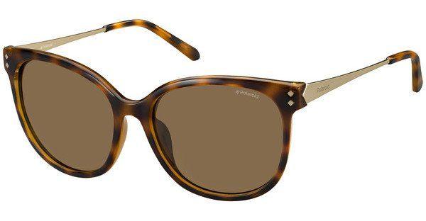 Polaroid Damen Sonnenbrille » PLD 4048/S«, blau, R97/8W - blau/grau