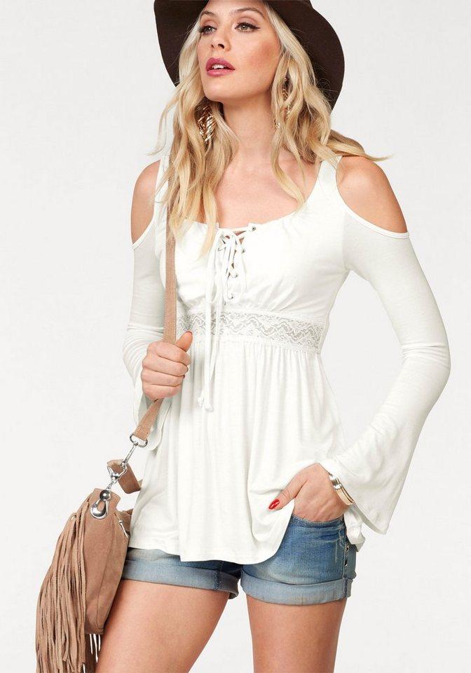 melrose langarmshirt mit cold shoulder kaufen otto. Black Bedroom Furniture Sets. Home Design Ideas