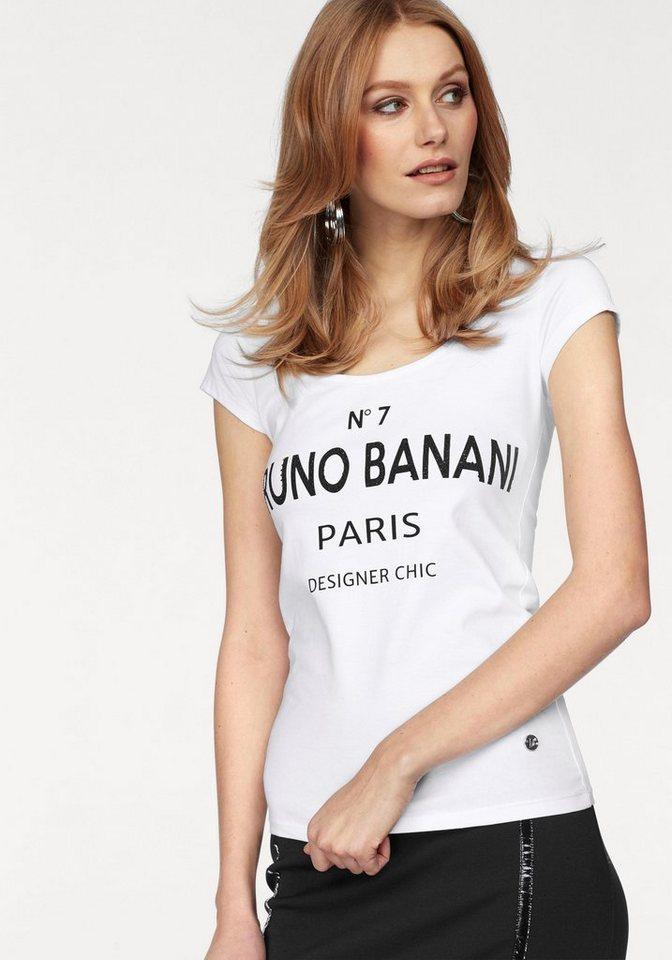 Bruno Banani T-Shirt mit Statement-Print in weiß