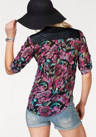Melrose Chiffonbluse, mit knalligem Flowerprint