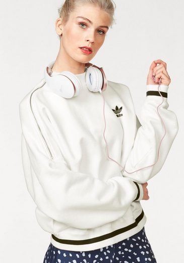 Adidas Originals Sweatshirt Sweater, Extra-wide Cut With Zipper On Shoulder