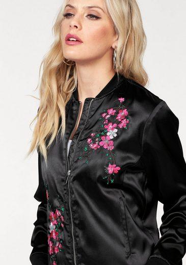 Melrose Blouson, mit Blüten-Stickerei